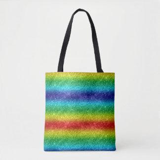 Glitter Rainbow Tote Bag