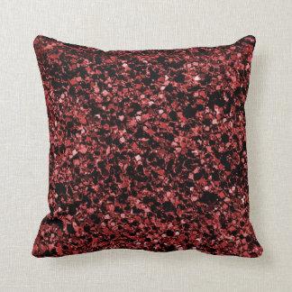Glitter red texture throw pillow