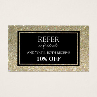 Glitter Referral Card