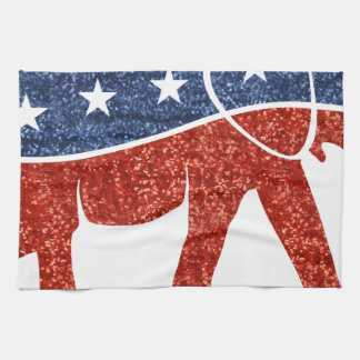 glitter republican elephant kitchen towels