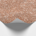 Glitter Rose Gold Wrapping Paper