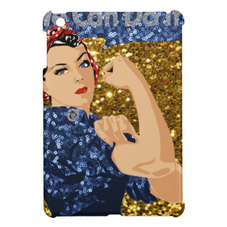 glitter rosie the riveter iPad mini cover
