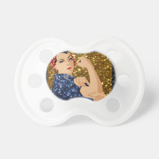 glitter rosie the riveter pacifiers