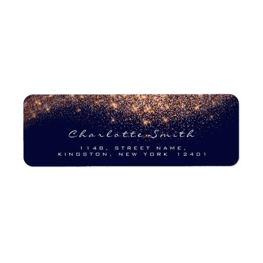 Glitter RSVP Copper Rose Gold Blue  Bridal Makeup