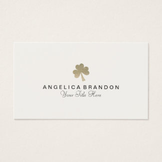 Glitter Shamrock Business Card