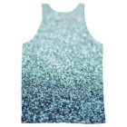 Glitter Shine Luxury Diamond All-Over-Print Tank Top