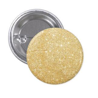 Glitter Shiny Luxury Golden 1 Inch Round Button