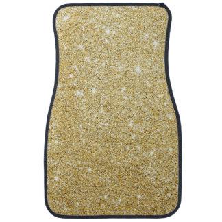 Glitter Shiny Luxury Golden Car Floor Carpet