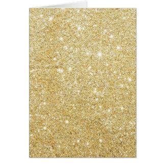 Glitter Shiny Luxury Golden Card