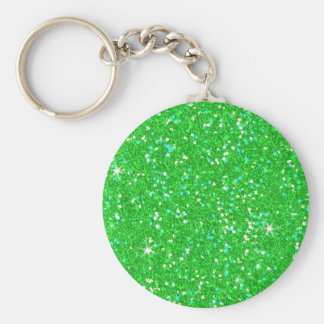 Glitter Shiny Sparkley Basic Round Button Keychain