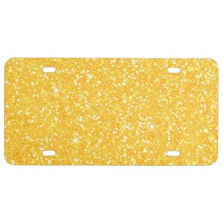 Glitter Shiny Sparkley License Plate
