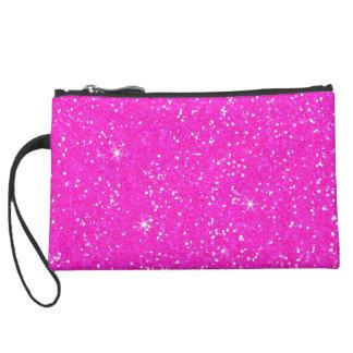 Glitter Shiny Sparkley Suede Wristlet