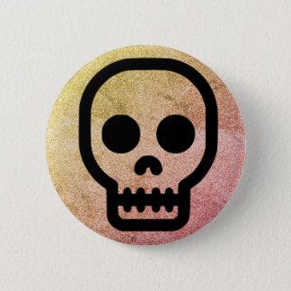 Glitter Skull Punk Gothic Pinback Button