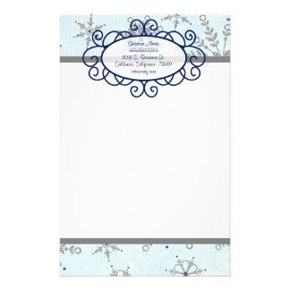Glitter Snowflakes Letterhead Stationery