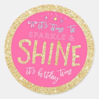 Glitter Sparkle Birthday Sticker