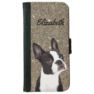 Glitter Sparkle Boston Terrier Phone Case