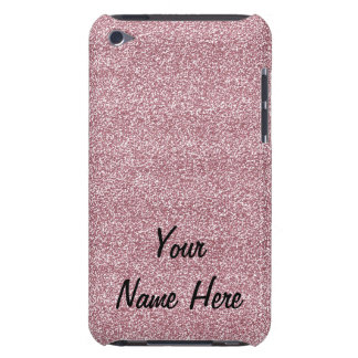 Glitter & Sparkles Pink (add name) iPod Touch Case