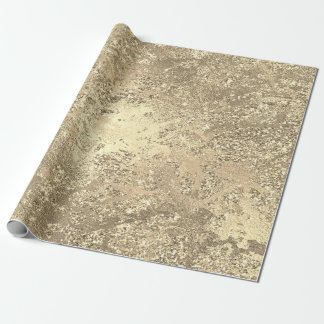 Glitter Sparkly Molten Gold Marble Shiny Metallic Wrapping Paper