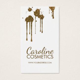 Glitter Spots Cosmetologist Simple White Card