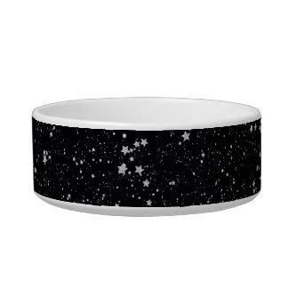 Glitter Stars2 - Silver Black Bowl