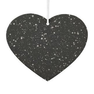 Glitter Stars2 - Silver Black Car Air Freshener