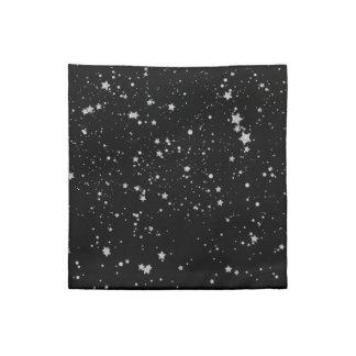 Glitter Stars2 - Silver Black Napkin