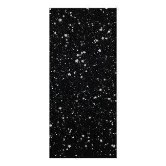 Glitter Stars2 - Silver Black Rack Card