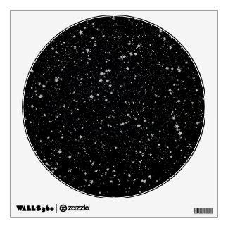 Glitter Stars2 - Silver Black Wall Decal