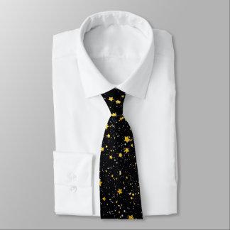 Glitter Stars3 - Gold Black Tie