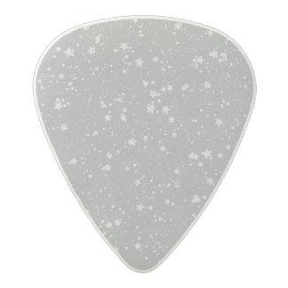 Glitter Stars4 - Silver Acetal Guitar Pick