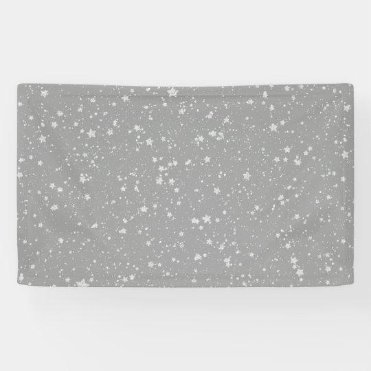 Glitter Stars4 - Silver Banner