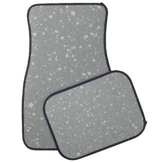 Glitter Stars4 - Silver Car Mat
