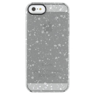 Glitter Stars4 - Silver Clear iPhone SE/5/5s Case