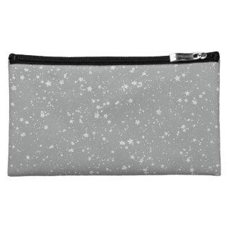 Glitter Stars4 - Silver Cosmetic Bag