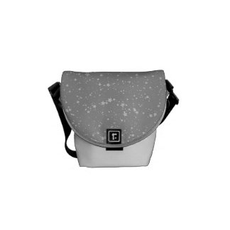 Glitter Stars4 - Silver Courier Bag
