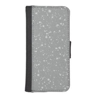 Glitter Stars4 - Silver iPhone SE/5/5s Wallet Case