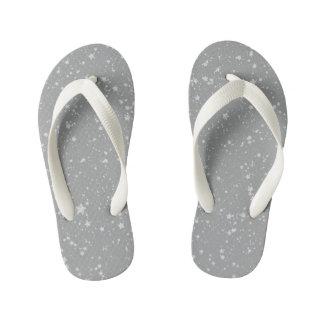 Glitter Stars4 - Silver Kid's Flip Flops