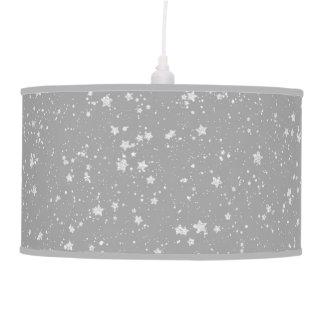 Glitter Stars4 - Silver Pendant Lamp