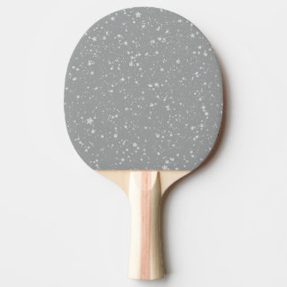 Glitter Stars4 - Silver Ping Pong Paddle