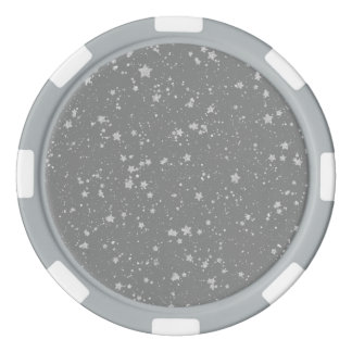 Glitter Stars4 - Silver Poker Chips