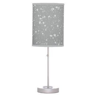 Glitter Stars4 - Silver Table Lamp