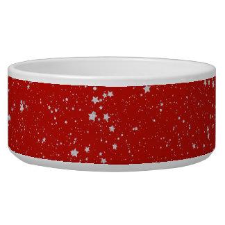 Glitter Stars - Silver Red