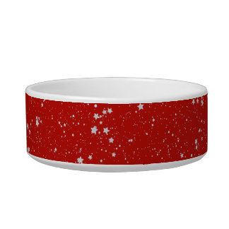 Glitter Stars - Silver Red Bowl