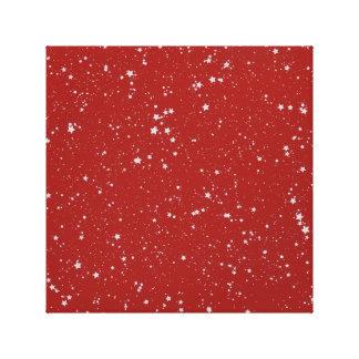 Glitter Stars - Silver Red Canvas Print