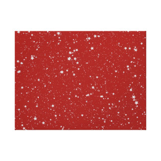 Glitter Stars - Silver Red Canvas Print