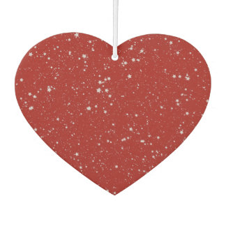 Glitter Stars - Silver Red Car Air Freshener
