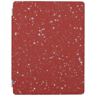 Glitter Stars - Silver Red iPad Cover