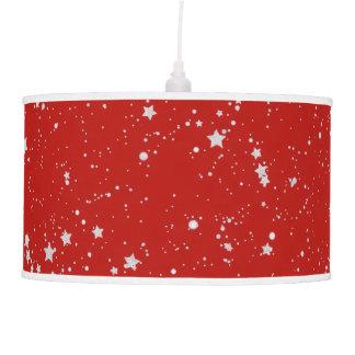 Glitter Stars - Silver Red Pendant Lamp