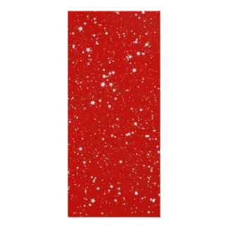 Glitter Stars - Silver Red Rack Card