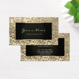Glitter Stylist Fashion Blogge Champagne Faux Gold Business Card